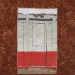 Thread painting of Mexican door